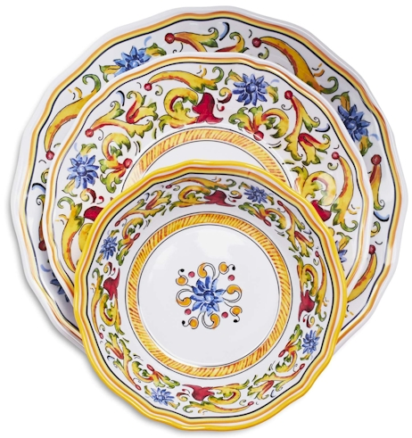Itu0027s beautiful dinnerware thatu0027s based on vintage patterns from Deruta Italy ...  sc 1 st  Daily Cheapskate & Daily Cheapskate: TODAY ONLY (5/10/16) 50% off Italian-inspired ...