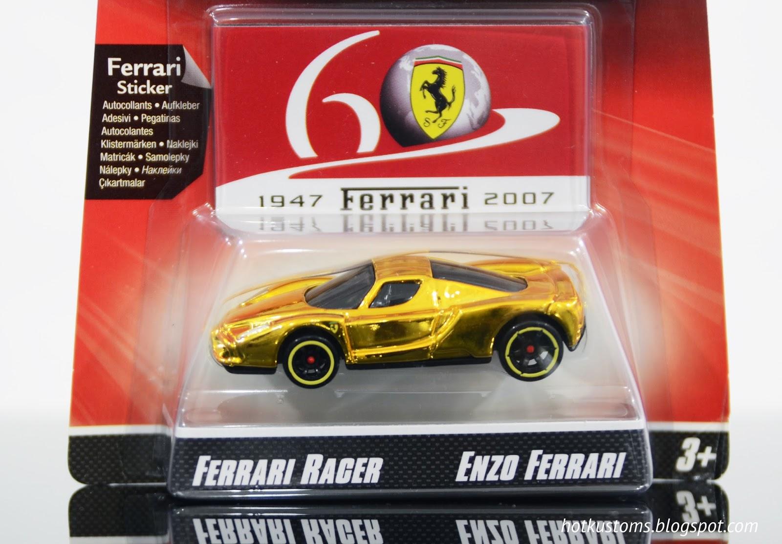 hot kustoms mini cars: the carded issue - 2007 hot wheels ferrari
