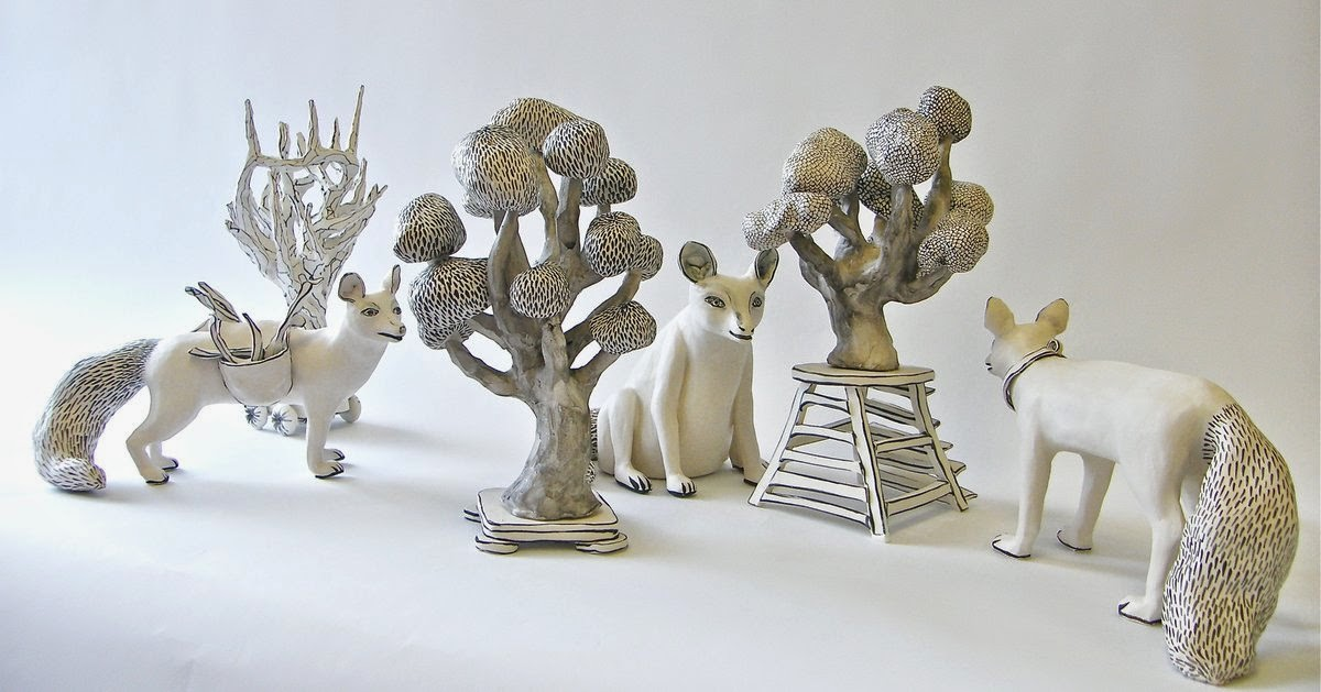 29-In-the-Forest-Katharine-Morling-Porcelain-Sculptures-www-designstack-co
