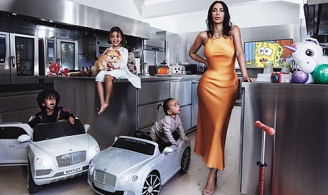 Kim Stuns As Her Children Make Their Vogue Debut