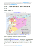 Map of fighting and territorial control in Syria's Civil War (Free Syrian Army rebels, Kurdish YPG, Syrian Democratic Forces (SDF), Al-Nusra Front, Islamic State (ISIS/ISIL), and others), updated for December 2015. Highlights recent locations of conflict and territorial control changes, such as Kweires airbase, Hader, Kafrah, Delha, Deir Hanna, Sheikh Meskin, Hawl, and more.