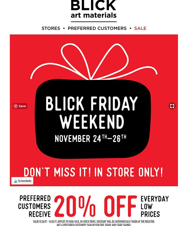 Go Couponing Now Dick Blick Black Friday Week End
