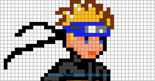 Minecraft Pixel Art Templates Naruto