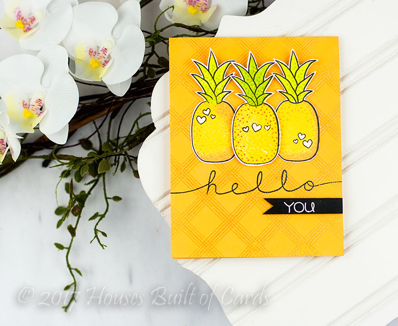 I Started Off By Having Fun Stamping And Layering Together The Pineapples  From The Adorable New Fruit Salad Stamp Set. There Are Lots Of Layer  Options And ...