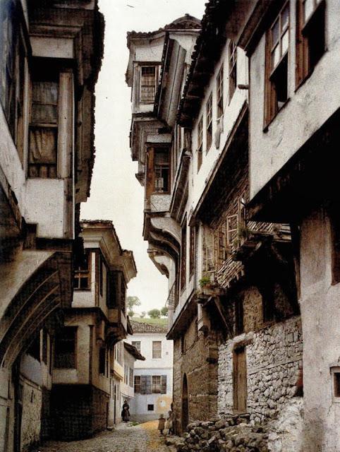 Samoilova Street in Ohrid, Macedonia in 1913