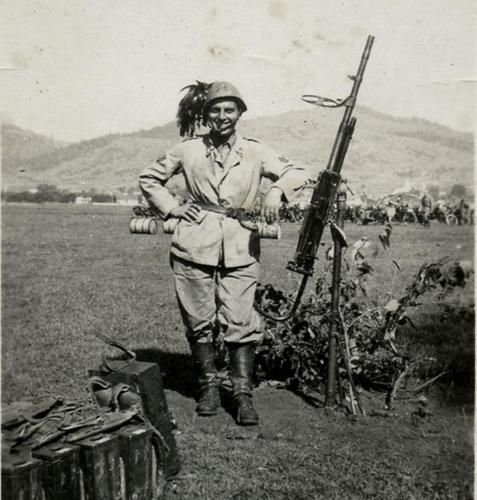 Italian Breda Heavy Machine gun Operator in Bosnia 1942