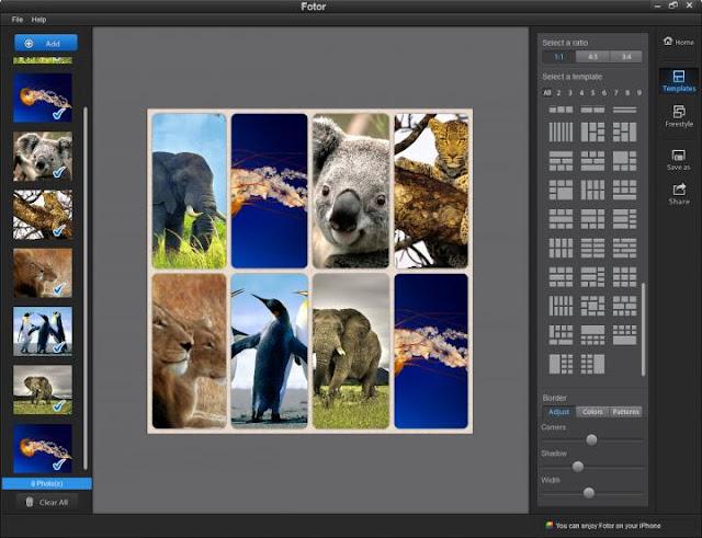 Herramienta collage fotos online