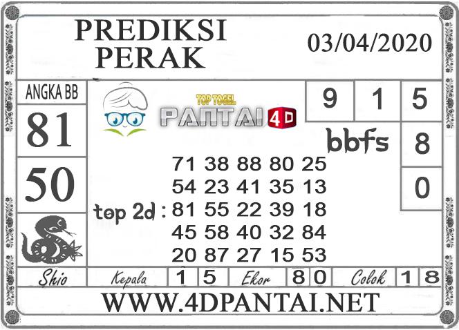 PREDIKSI TOGEL PERAK PANTAI4D 03 APRIL 2020