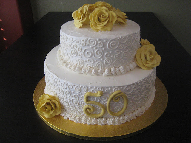 Thenaughtytartebaking 50th Wedding Anniversary Cake