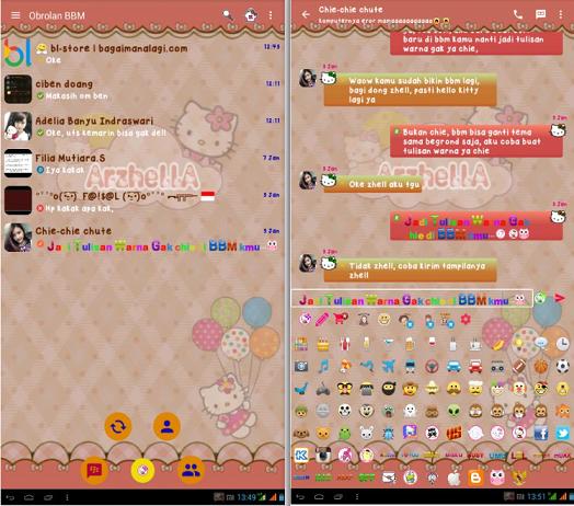 MOD BBM v2.12.0.11 - Hello Kitty