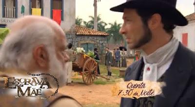 Osório e Almeida na novela Escrava Mãe