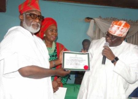Ondo: Akeredolu receives Certificate of Return from INEC