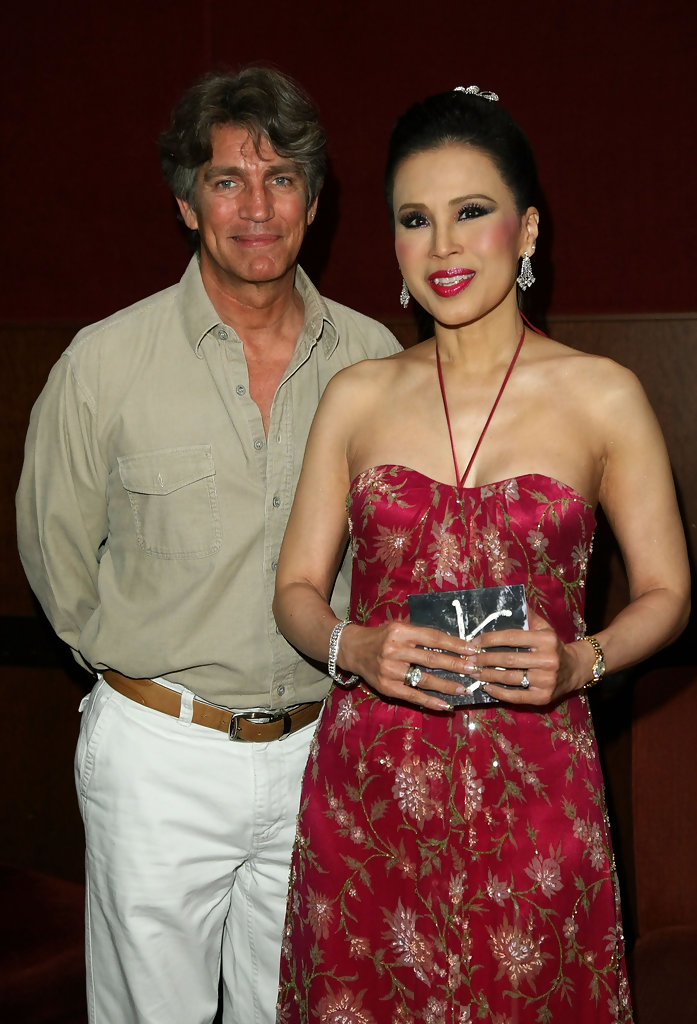 Princess Ubolratana Rajakanya of Thailand poses with Eric Roberts before the screening of 'Where the Miracle Happens' as part of the Thai Film Festival at Arclight Cinema on January 25, 2009 in Los Angeles, California.