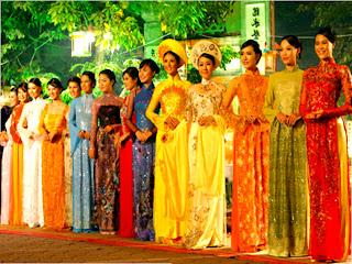 Vietnamien Ao Dai Costume Modèle