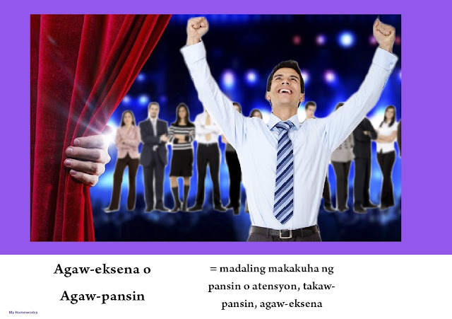 My Homeworks Tambalang Salita Agaw Eksena O Agaw Pansin
