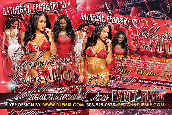 Valentine's Eve Party Flyer Design