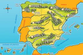 Mapa Relieve De España.Escuela De Superheroes 4º Kantic Mapas Interactivos Del