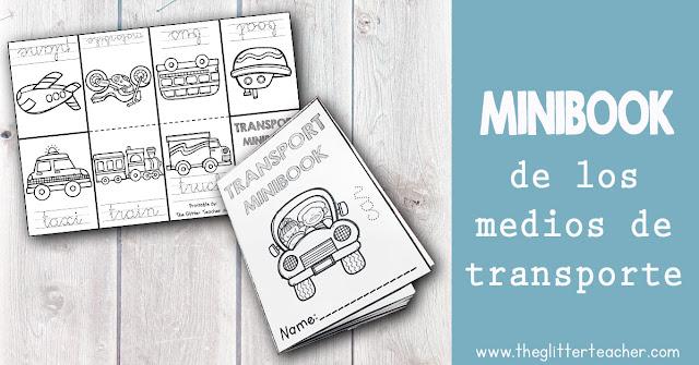 Minibook imprimible de los medios de transporte