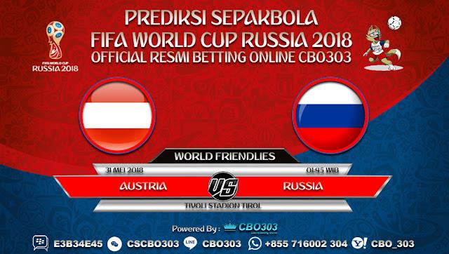 Prediksi Bola Austria VS Russia 31 Mei 2018