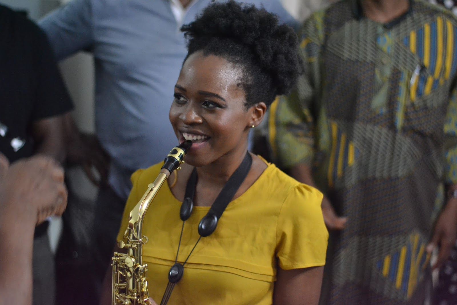 Female saxophonist in nigeria