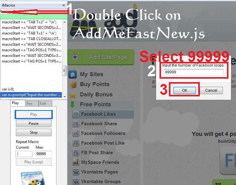 Get AddMeFast Free Unlimited Points