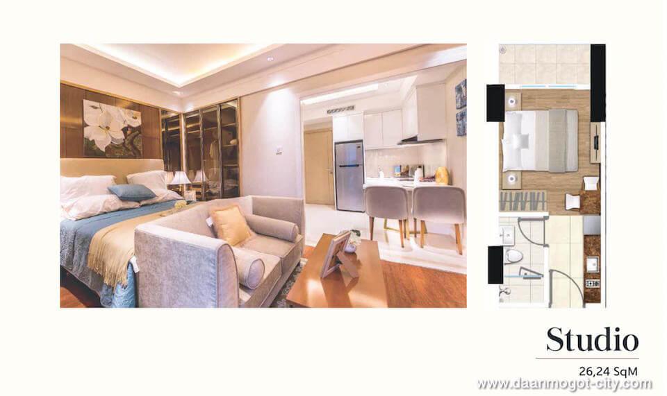 Apartemen DAMOCI Tipe Studio