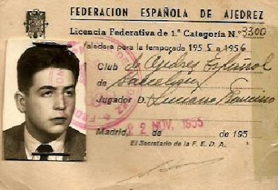 Ficha de Francino por el Club Ajedrez Español