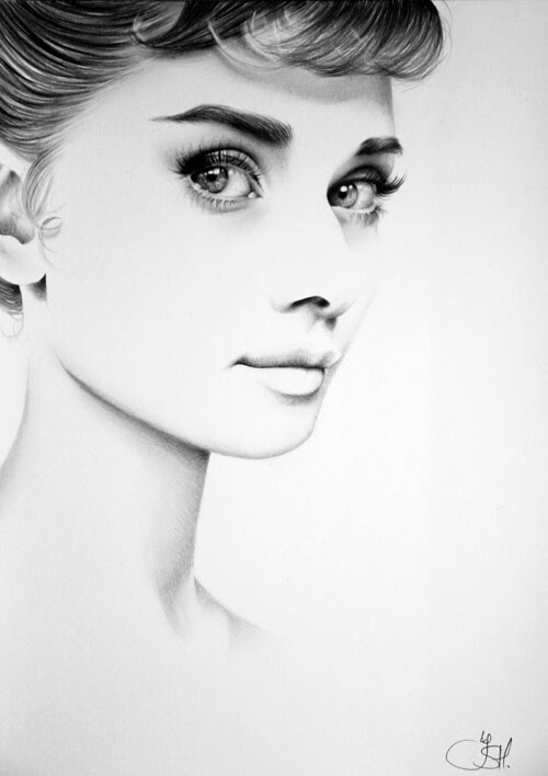 05-Audrey-Hepburn-Ileana-Hunter-Drawings-of-Minimalist-Realism-Meets-Celebrities-www-designstack-co