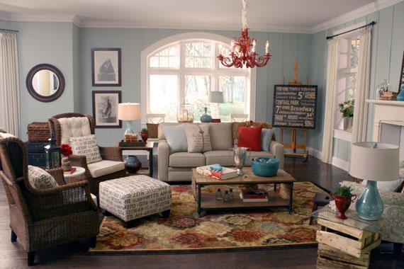 Remodelaholic | Beach Themed Living Room