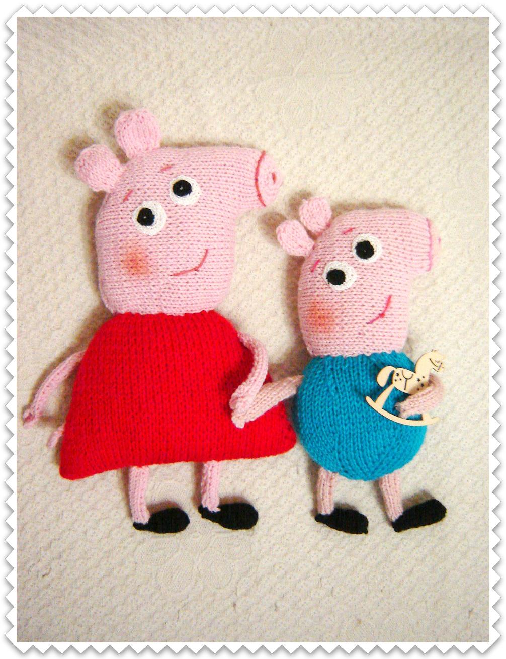 вяжем игрушки спицами с ольгой чепижной свинка пепа и джордж