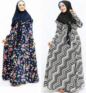 22 Contoh Model Baju Gamis Dan Blazer Muslim Bahan Sifon  90c8d7246a