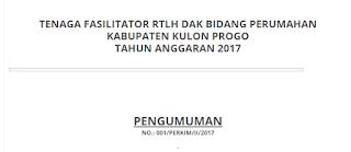 Lowongan Kerja Non PNS Dinas Pekerjaan Umum Perumahan dan Kawasan Permukiman Tahun 2017