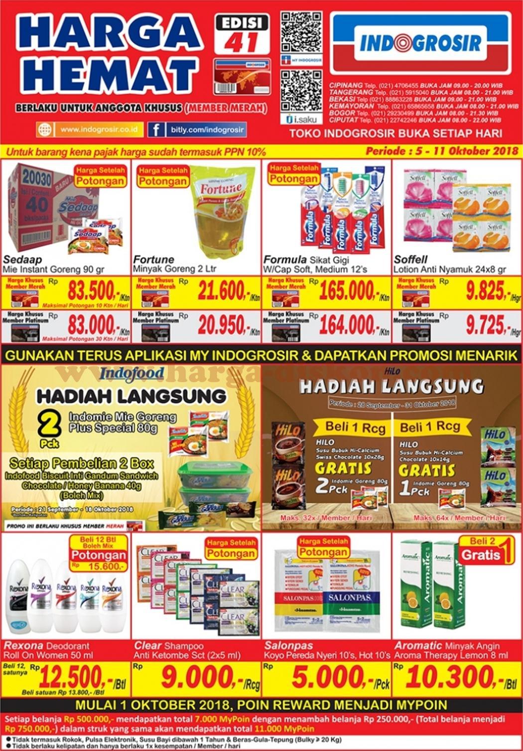 Katalog Harga dan Promo INDOGROSIR Terbaru