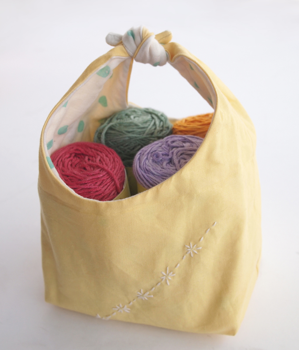 Fancy Tiger Crafts: Dan's Fabric Basket with Sashiko