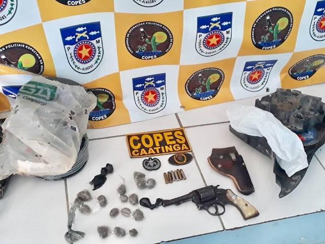 Em Piranhas, homem é preso porte ilegal de arma de fogo, trafico de drogas e  receptação de peças roubadas
