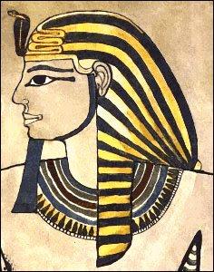 Egypten, Farao, Amenhotep II, Uraeus. Kobra.
