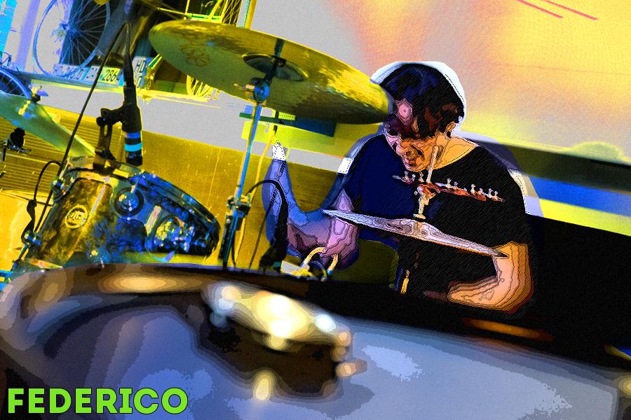 Federico è il batterista dei Plutonium Baby. Man Cave Jesi