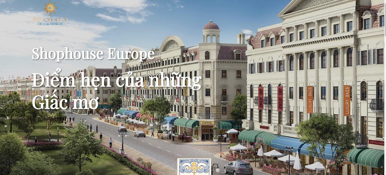 Shophouse Europe Sun Plaza Grand World Hạ Long