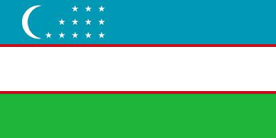 Logo Gambar Bendera Negara Uzbekistan PNG JPG ukuran 400 px