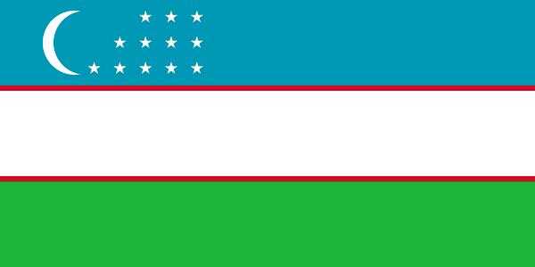 Logo Gambar Bendera Negara Uzbekistan PNG JPG ukuran 600 px
