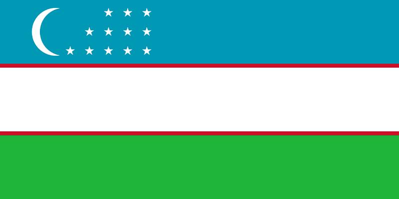 Logo Gambar Bendera Negara Uzbekistan PNG JPG ukuran 800 px