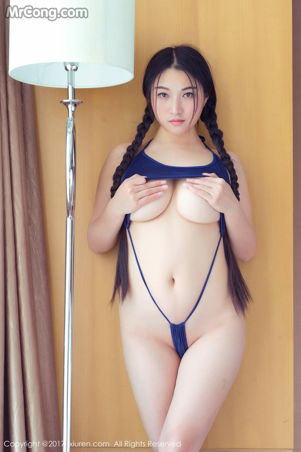 Image XIUREN-No.705-Pan-Pan-Yi-Jiu-MrCong.com-008 in post XIUREN No.705: Người mẫu Pan Pan Yi Jiu (盼盼已鸠) (54 ảnh)