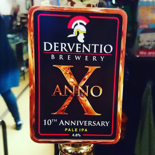 Derbyshire Craft Beer Review: Anno X from Derventio pump clip real ale
