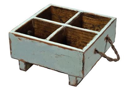 aqua blue crate