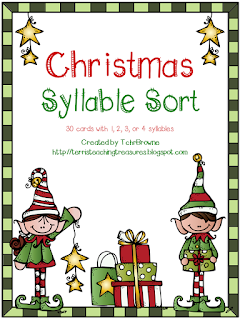 https://www.teacherspayteachers.com/Product/Christmas-Words-Syllable-Sort-980220