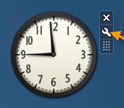 8d6261b8c ستظهر الساعه بهذا الشكل على سطح المكتب ، إضغط على علامة المفتاح هذه المشار  اليها