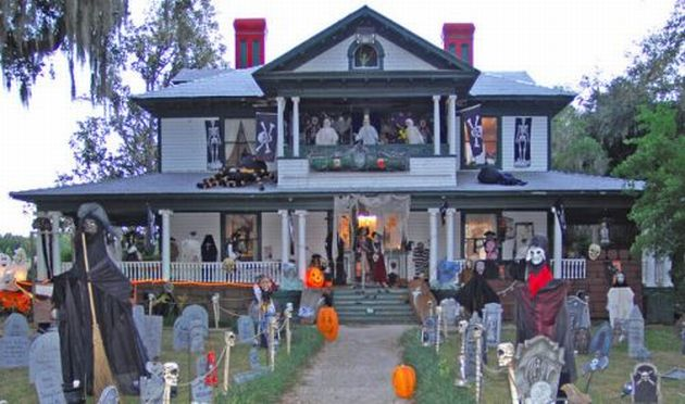 Halloween Home Design Ideas: Spooky Halloween Front Yard Decorations