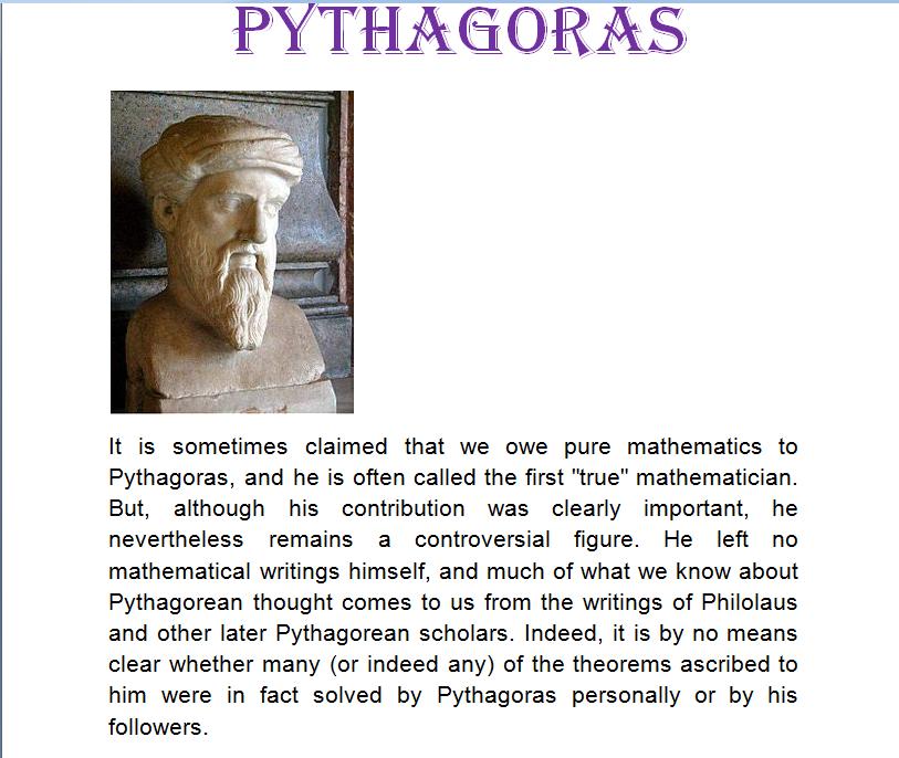 pythagoras music geometry and mathematics