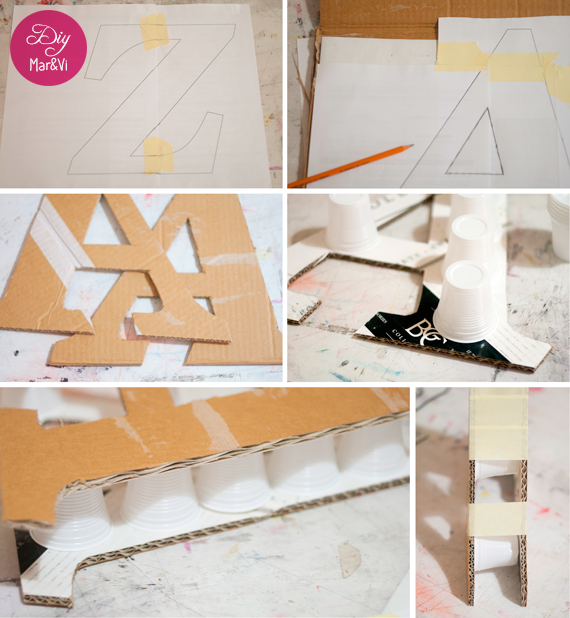 DIY: letras decorativas de cartón paso a paso
