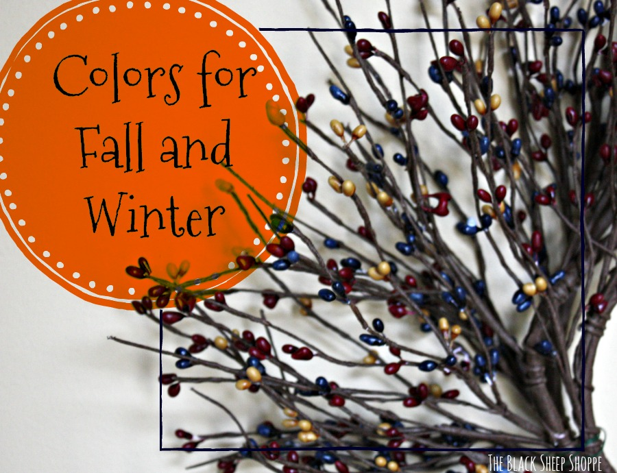 The colors in this pip berry garland are perfect for Fall and Winter.